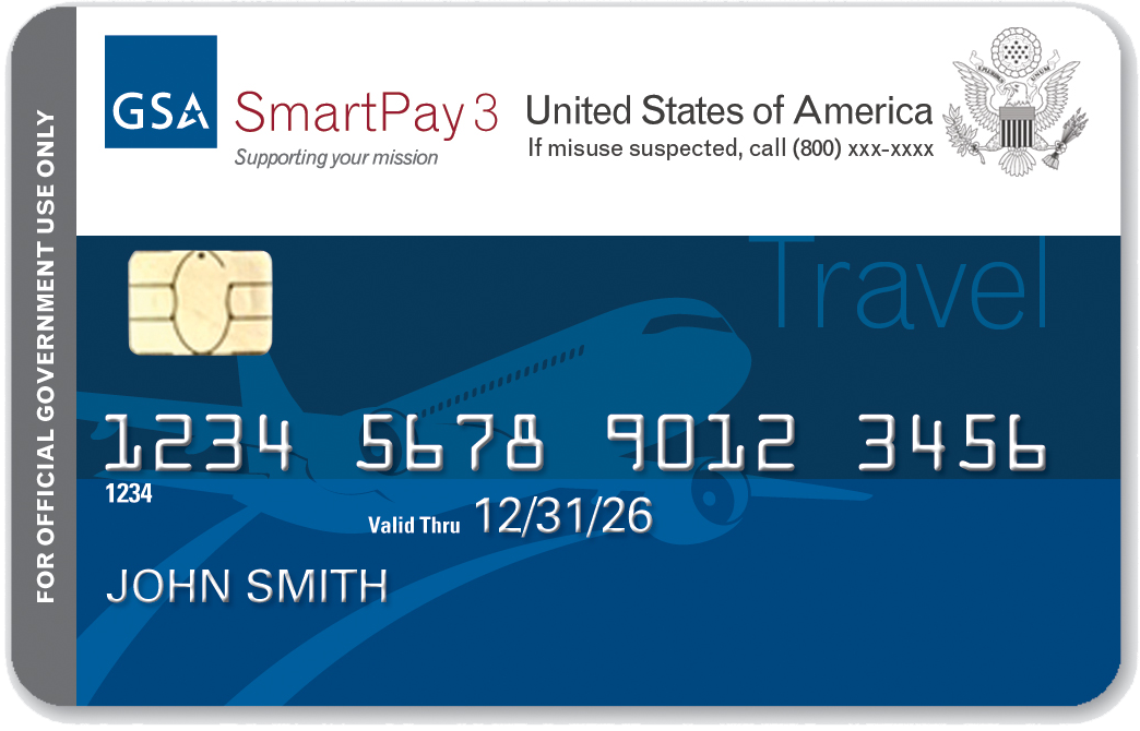 Sample SmartPay3 Travel credit card.