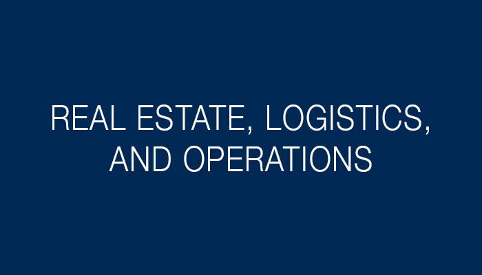Real Estate, Logistics, and Operations Support.