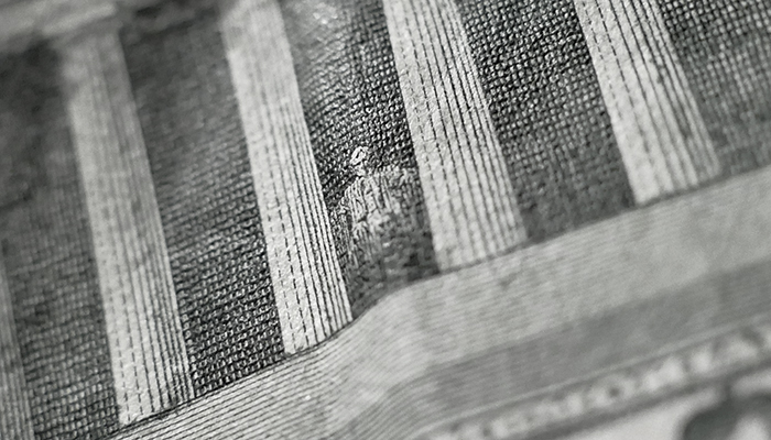 close up of a dollar bill.